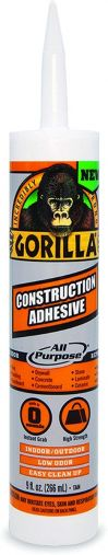 Gorilla Heavy Duty Construction Adhesive, 9 Ounce Cartridge, White HM0631