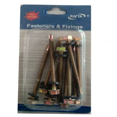 Assorted Steel Screw 10 Pcs /4.8 x 80 cms-HM0147