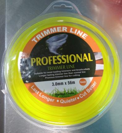 BKR Round Nylon Trimmer Brush Cutter Wire 56MTR -LG0552