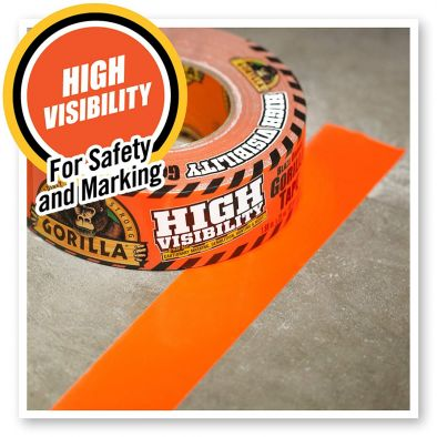 Gorilla 6004002DF High Visibility Duct Tape, Blaze Orange