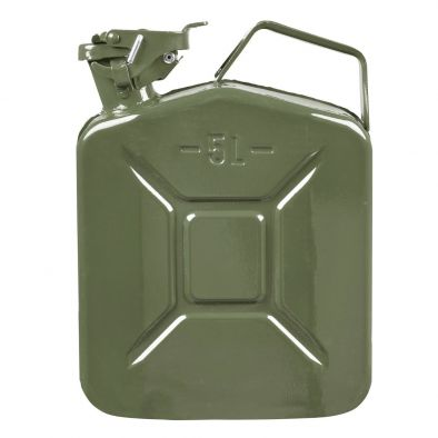 BKR 5 L Metal Jerry Can for Generators, Jeeps and Vehicles (10 x 5 x 12-inch, Green)