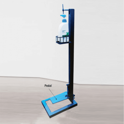 BKR® Foot Pedal Hand Sanitizer Stand Without Bottle - HM0575