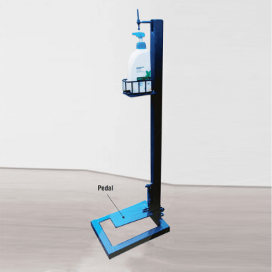 BKR® Foot Pedal Hand Sanitizer Stand With 500ml Bottle - HM0576