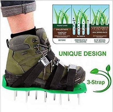 BKR® Garden Lawn Aerator Shoes for Effectively Aerating Lawn Soil - LG0666
