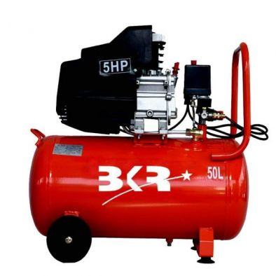 BKR® Iron Portable Air Compressor with Induction Motor 50Ltr