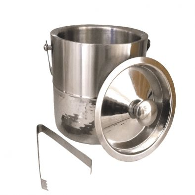 BKR® Half Hammered Ice Bucket With Tong