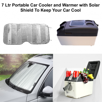 7 Ltr Portable Car Cooler and Warmer with Solar Shield To Keep Your Car Cool - CMB0001