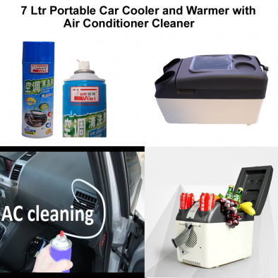 7 Ltr Portable Car Cooler and Warmer with Air Conditioner Foamy Cleaner - CMB0002