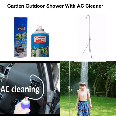 Garden Camping Outdoor Shower with Air Conditioner Cleaner - CMB0003
