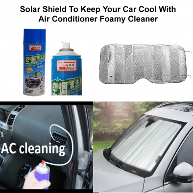 Solar Shield To Keep Your Car Cool With Air Conditioner Foamy Cleaner - CMB0004