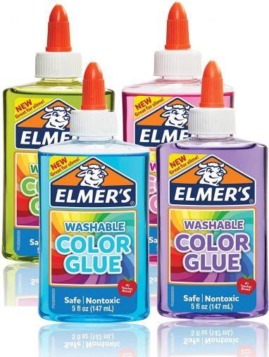 ELMERS Washable Transparent Glue 147 ML ( Pink,Purple,Green,Skyblue )