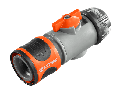 "GARDENA 2492-20 Hose Connector with Control Valve 13 mm (1/2"")"