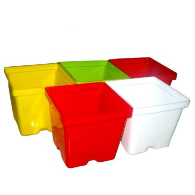 Jagan Hardware Exclusive 5 Pcs Home & Garden Plastic Pot 4 inch