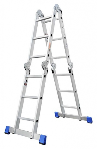 Falcon FPAL-1210 Aluminium Premium Folding Ladder (Grey) - HM0392