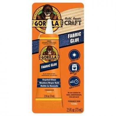 Gorilla Waterproof Fabric Glue 2.5 Ounce, Clear