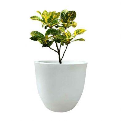 BKR® White Plastic Round Pot (12 Inches) - LG0811