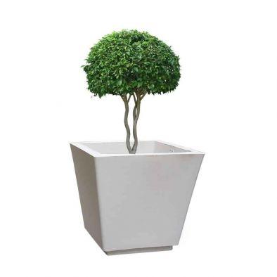 BKR® White Plastic Square Pot (12 Inches)