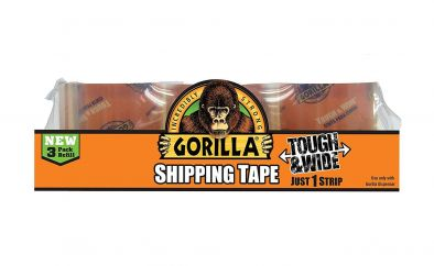 Gorilla Tough & Wide packing Tape 3 Refill pack