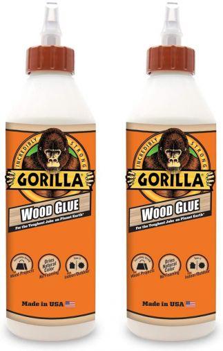 Gorilla 6205021- 2 Wood Glue (2 Pack), 18 oz