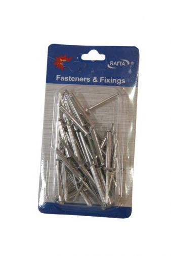 Assorted Rivets -40 pcs/4 x 16 cms - HM0143