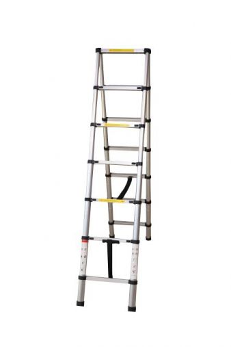 DOUBLE SIDE TELESCOPIC FOLDABLE LADDER 2.6 MTR-HM0190