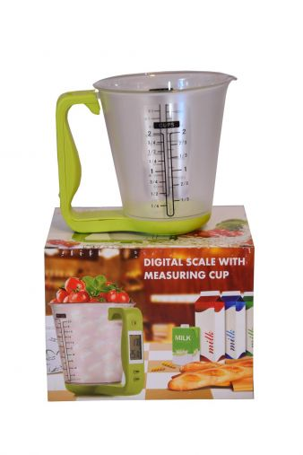 KITCHEN  SCALE with temperature IN KG LBS OUNCES-HM0196