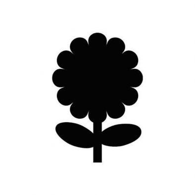 SILHOUETTE CHALKBOARDS- FLOWER DESIGN-HM0354