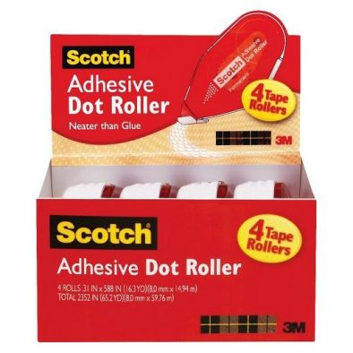 Scotch Adhesive Dot Roller 4 TAPE ROLLERS-HM0375