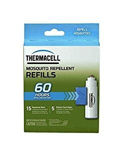 Thermacell R-5 Mosquito Repeller Refill, 60 Hour Pack (15 Repellent Mats and 5 Butane Cartridges) - HM0384