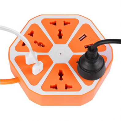 Extension Socket with 4 plug and 4 usb ports – HM0403