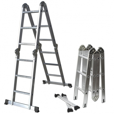 Aluminum Folding Multi-Position Ladder – HM0406