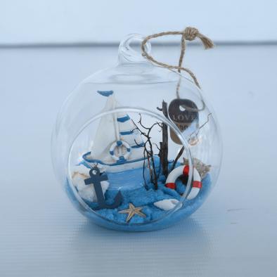 """Glass Hanging Terrarium 4"""""""