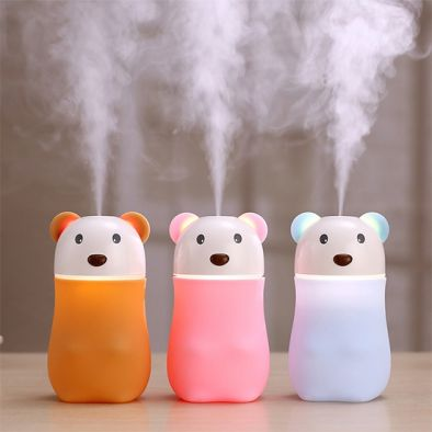USB Mist Humidifier Bear Shaped with LED Lamp – HM0436