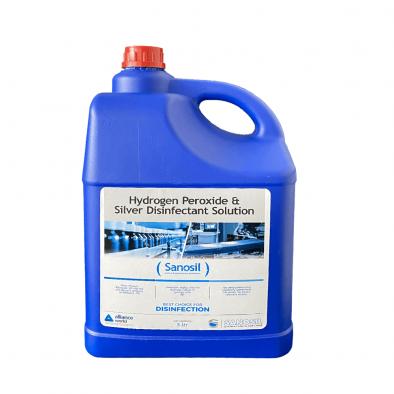 Sanosil Hydrogen Peroxide & Silver Disinfectant Solution 5 Ltr - HM0572