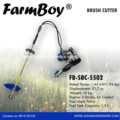Kisankraft Petrol Brush Cutter Back Pack Agriculture Reaper KK-SBC-5502