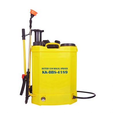 Kisankraft KK-BBS-4189 Manual Cum Battery Knapsack Sprayer 18L