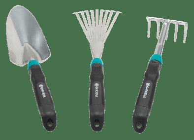 GARDENA 8964-30 Comfort Hand Tools Set, Hand Trowel , Flower Rake & Hand Rake