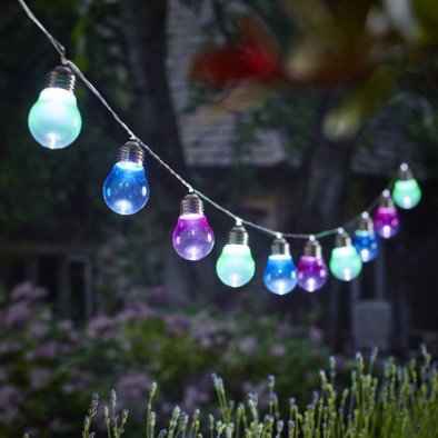 Solar Hanging Coloured Light Bulbs