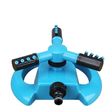 BKR® Water Sprinkler 3 Arm Round Lawn Sprinkler, 360° Rotating Garden Sprinkler System – LG0328