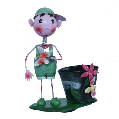 BKR® Boy Girl Flower Pot Home Decoration - 4 Models assorted Welcome/ heart - LG0361