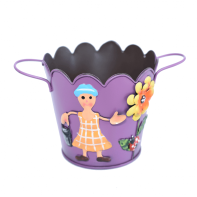 BKR® Fancy Bucket with handle For Home Decor 6 Models assorted - 10 cm - LG0371