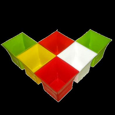 """BKR® JAGAN HARDWARE Exclusive Home & Garden ORIEN Pot 4"""" Set of 6 PCS Assorted Colours LG0438"""