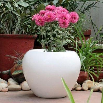 BKR Apple Design Fiber Garden Pot Round For Home Decor - LG0478