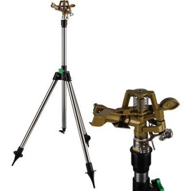 BKR® Adjustable Garden Telescopic Tripod Impulse Sprinkler Metal Body LG0668
