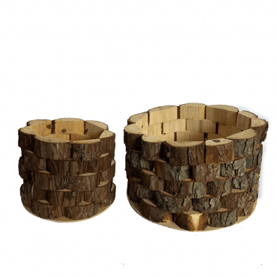 BKR® Wooden Pots 2 Pot set LG0676