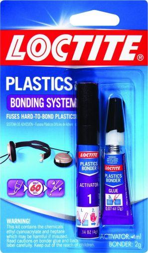 Loctite Super Glue Plastics Bonding System with Activator