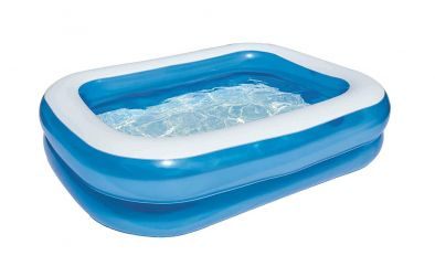 """Bestway 6'7""""Feet x 59"""" Inch x 20"""" inch/2.01M x 1.50M x 51cm Blue Rectangular Family Pool 