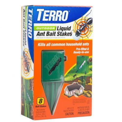 Terro Outdoor Liquid Ant Bait Stakes 8 Traps
