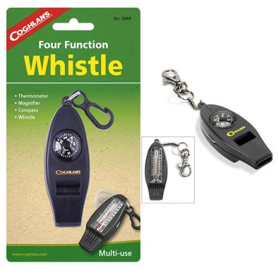 FOUR FUNCTION WHISTLE FOR CAMPS
