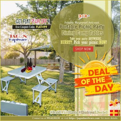Portable Picnic Party Dining Camp Foldable Table Outdoor – HM0407